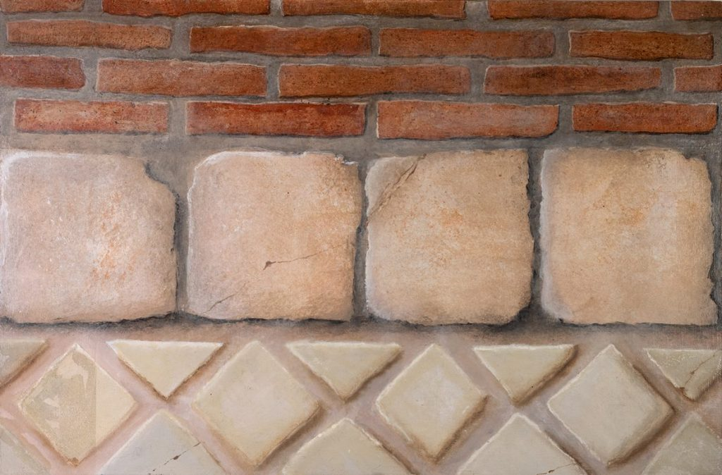 Brick, terracotta tiles, faience tiles