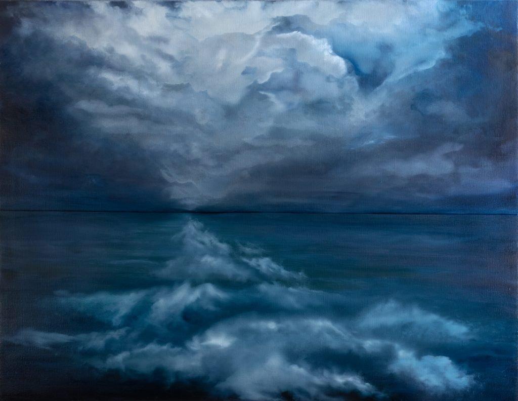 Série nuage bleu - H 90 x L 116 cm