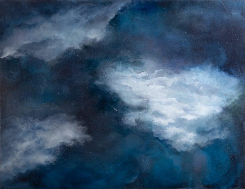 Série nuage bleu - H 90 x L 115 cm
