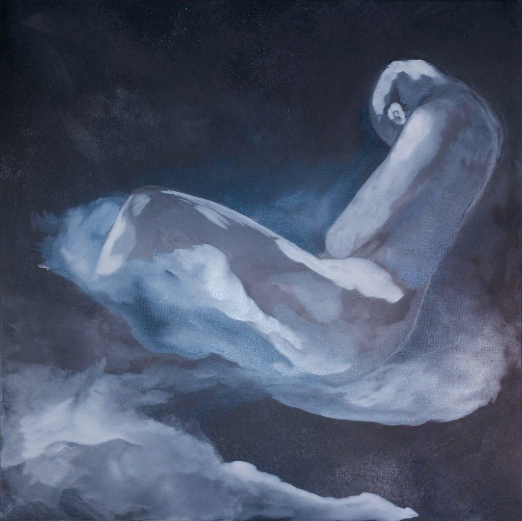 Série nuage en N et Blanc - H 90 x L 90 cm