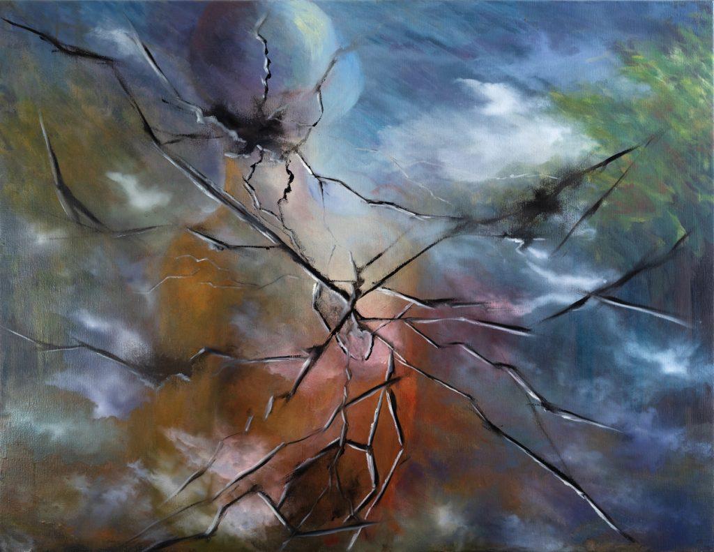 Femme brisée- H 89x115 cm