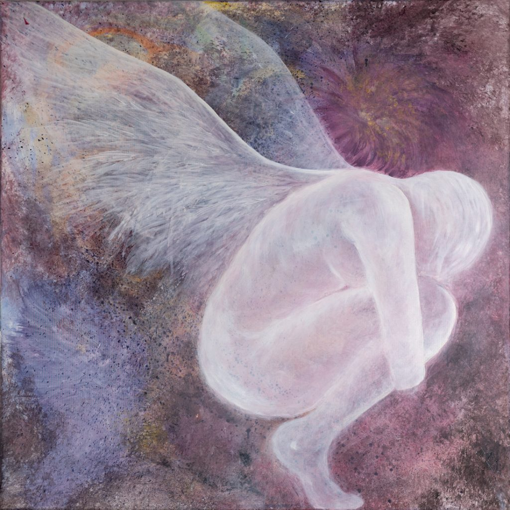 L'ange déchu 100 x 100cm