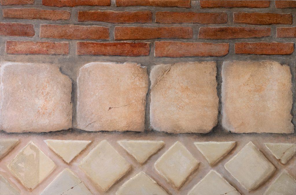 Mattone, mattonelle di terracotta, piastrelle di maiolica
